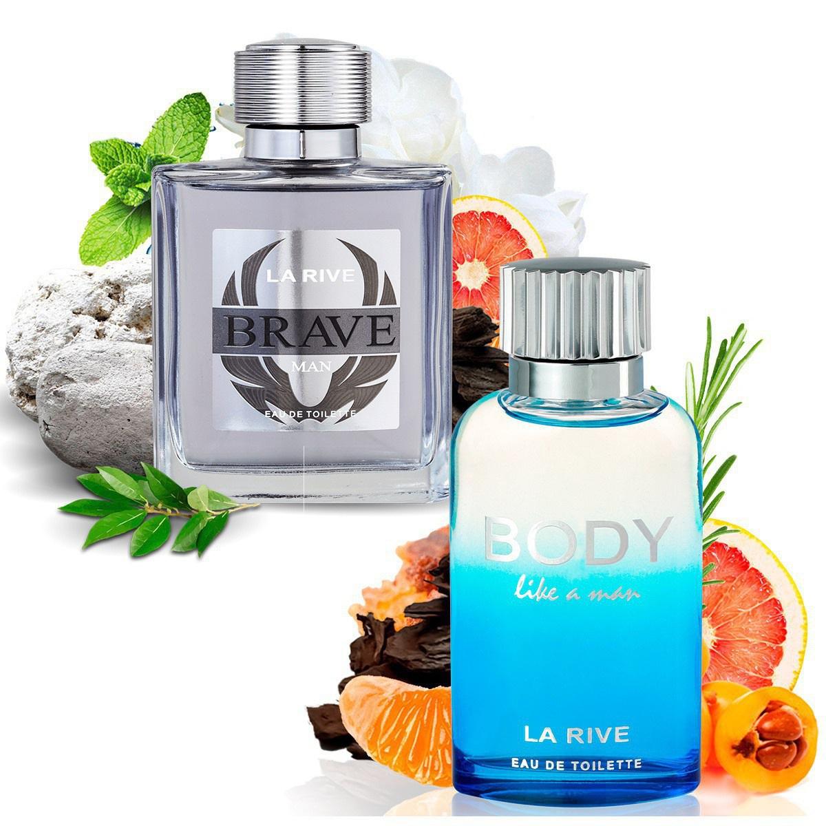 Kit 2 Perfumes Importados Brave e Body Like a Man La Rive