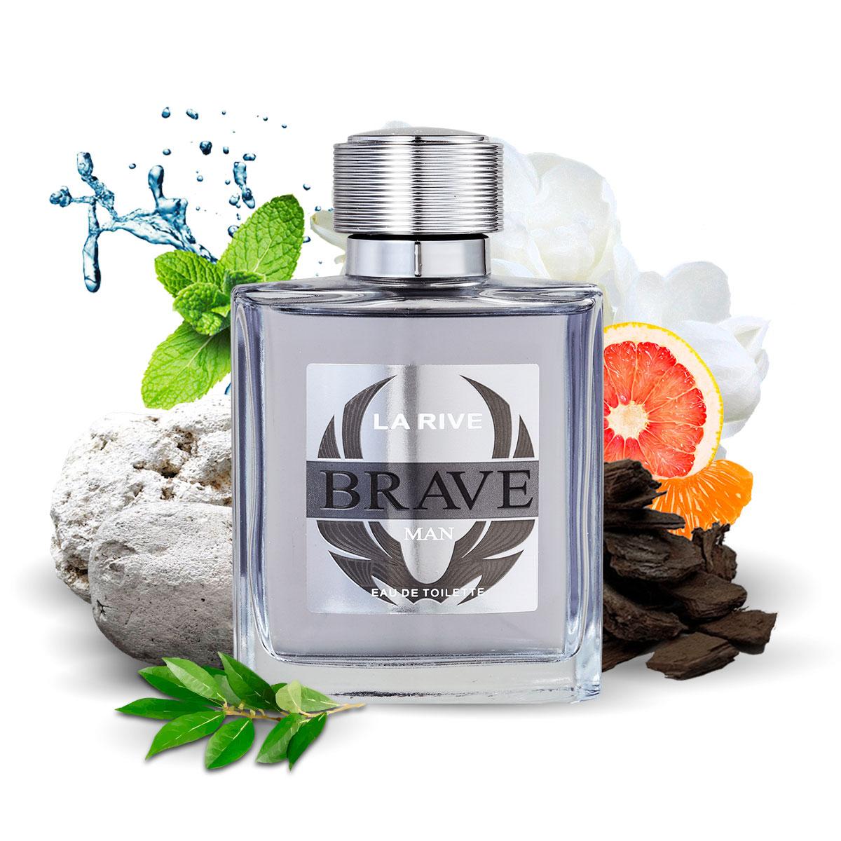 Kit 2 Perfumes Importados Brave e Cuté La Rive