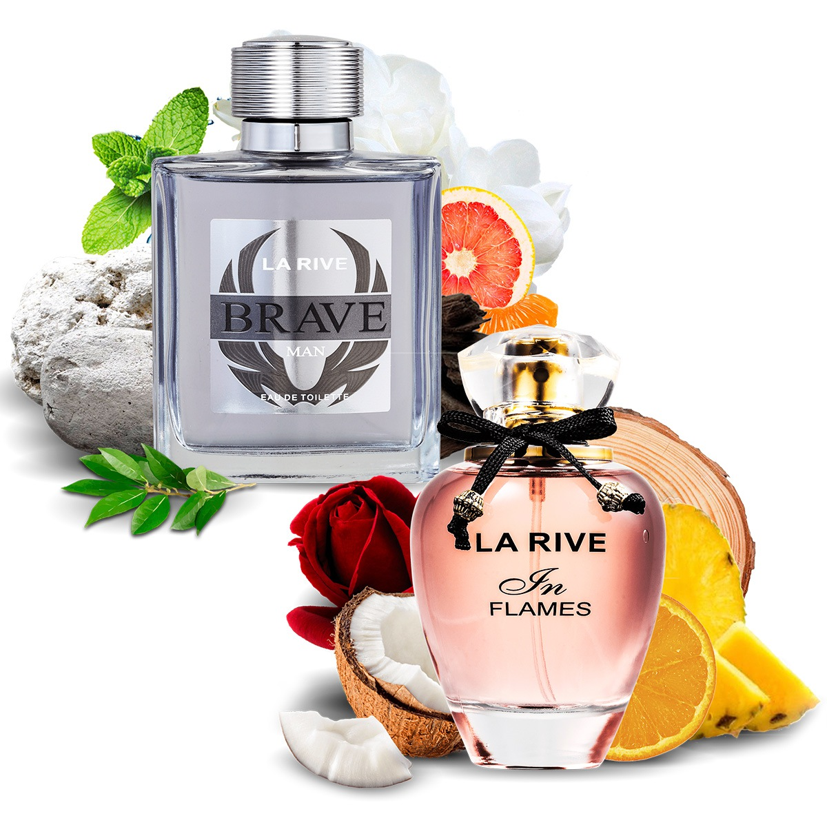 Kit 2 Perfumes Importados Brave e In Flames La Rive