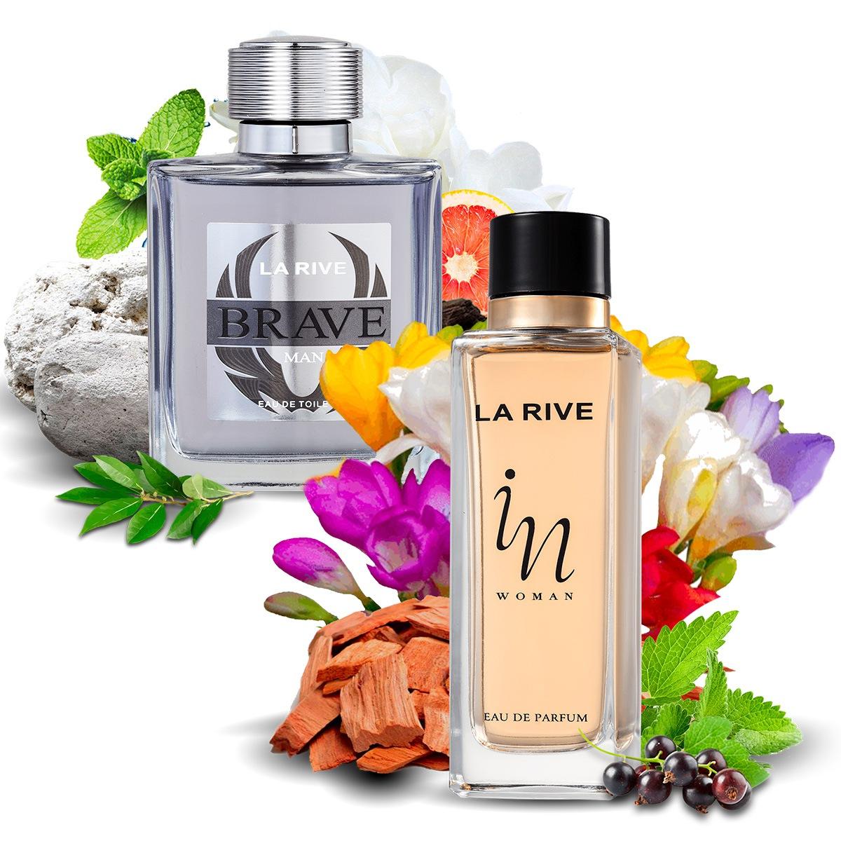 Kit 2 Perfumes Importados Brave e In Woman La Rive