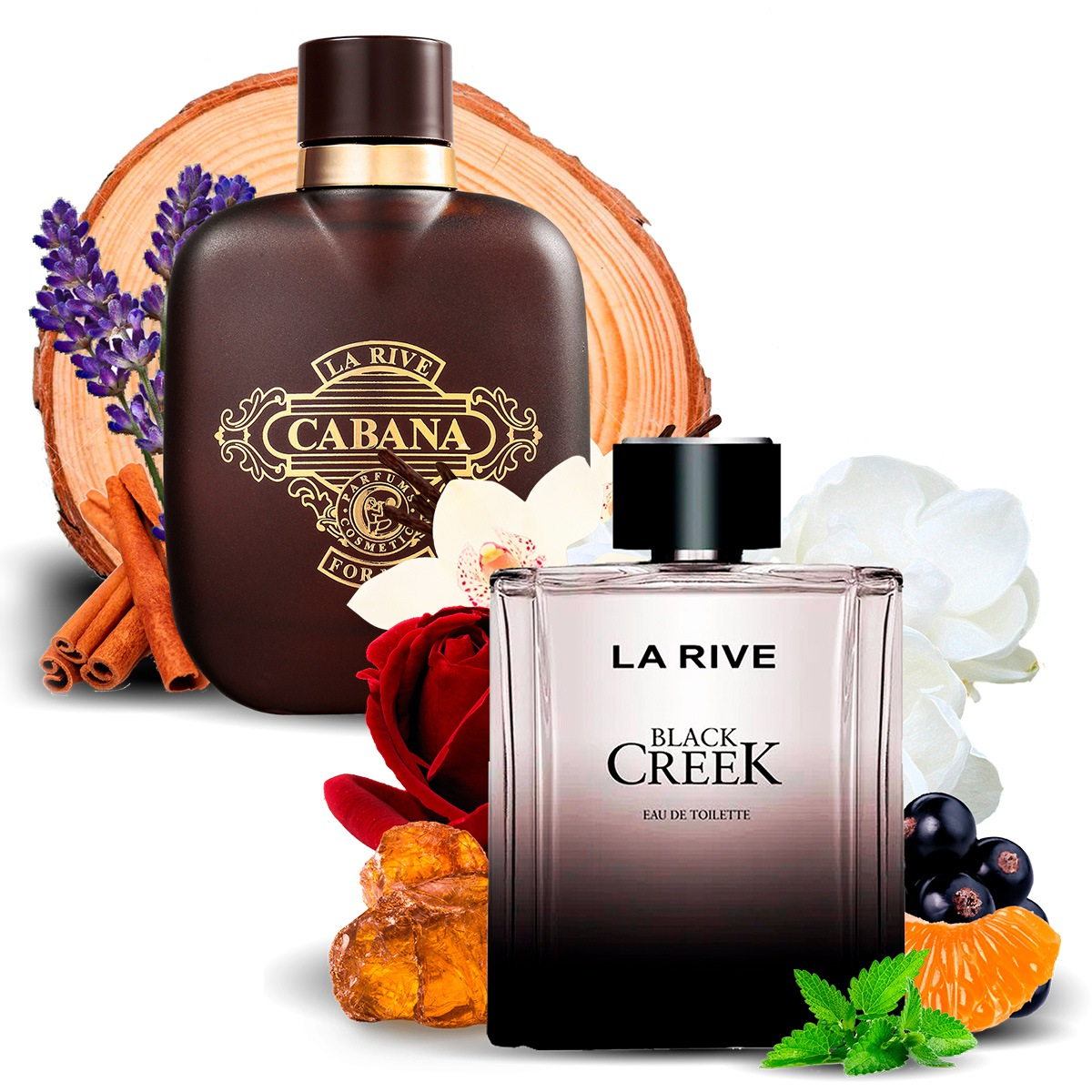 Kit 2 Perfumes Importados Cabana e Black Creek La Rive  - Mercari Perfumes