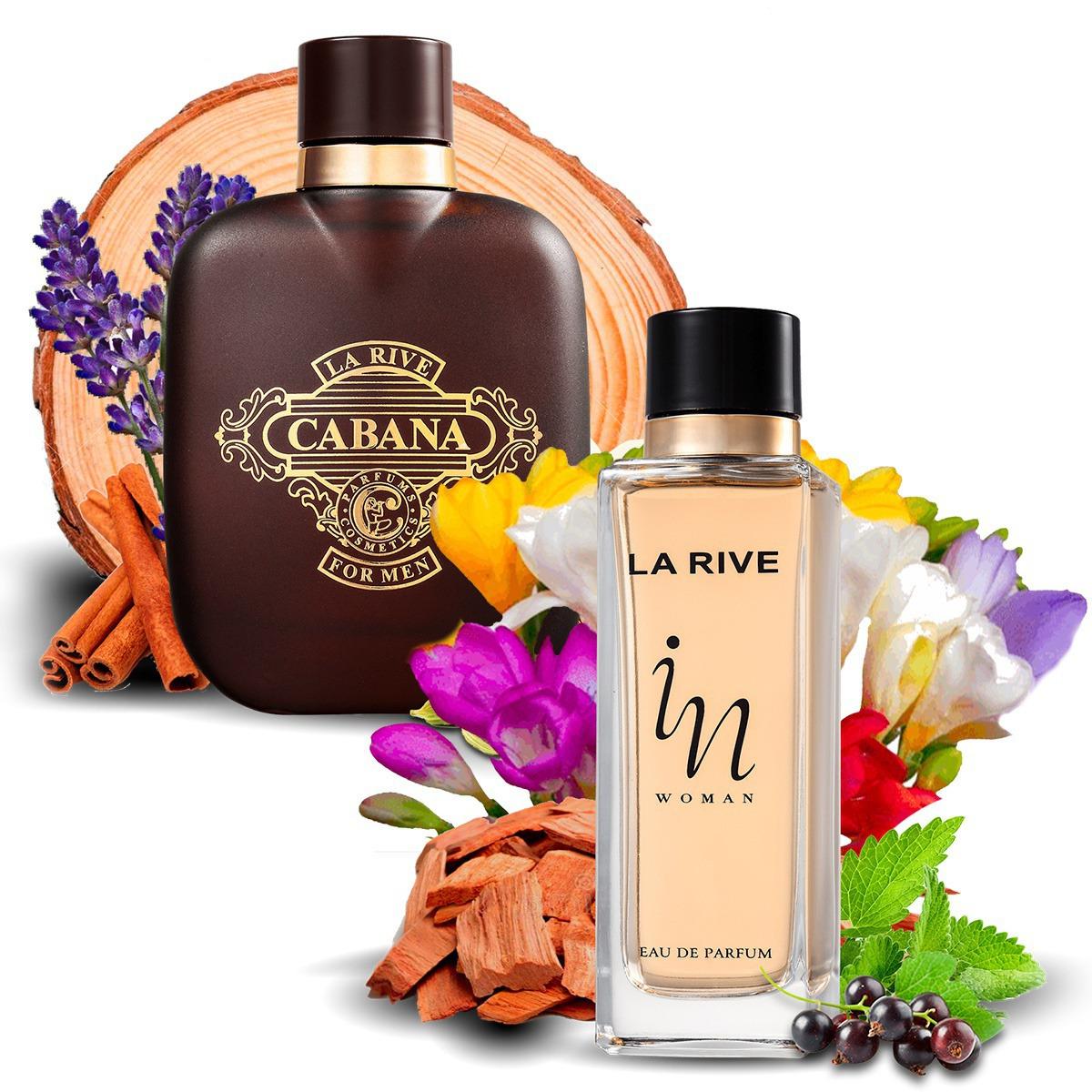 Kit 2 Perfumes Importados Cabana e In Woman La Rive
