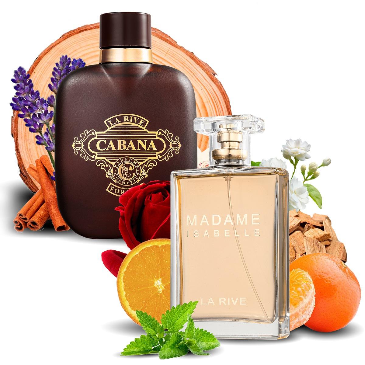 Kit 2 Perfumes Importados Cabana e Madame Isabelle La Rive