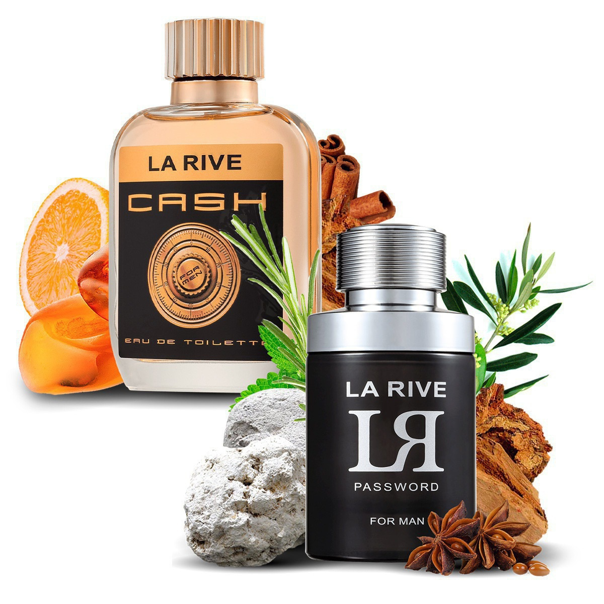 Kit 2 Perfumes Importados Cash Man e LR Password La Rive