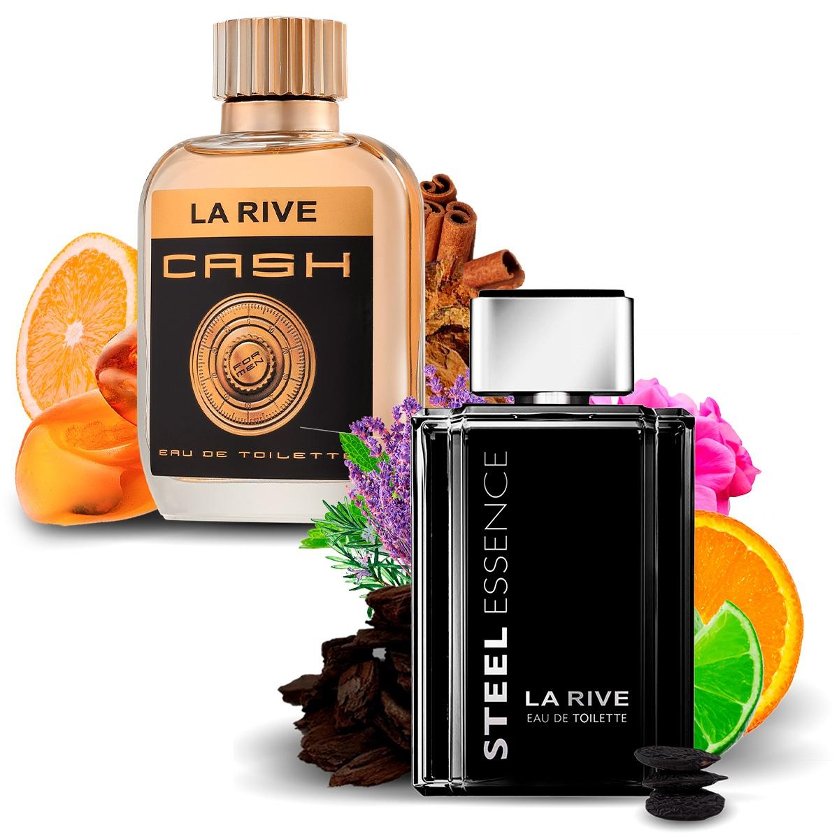 Kit 2 Perfumes Importados Cash Man e Steel Essence La Rive