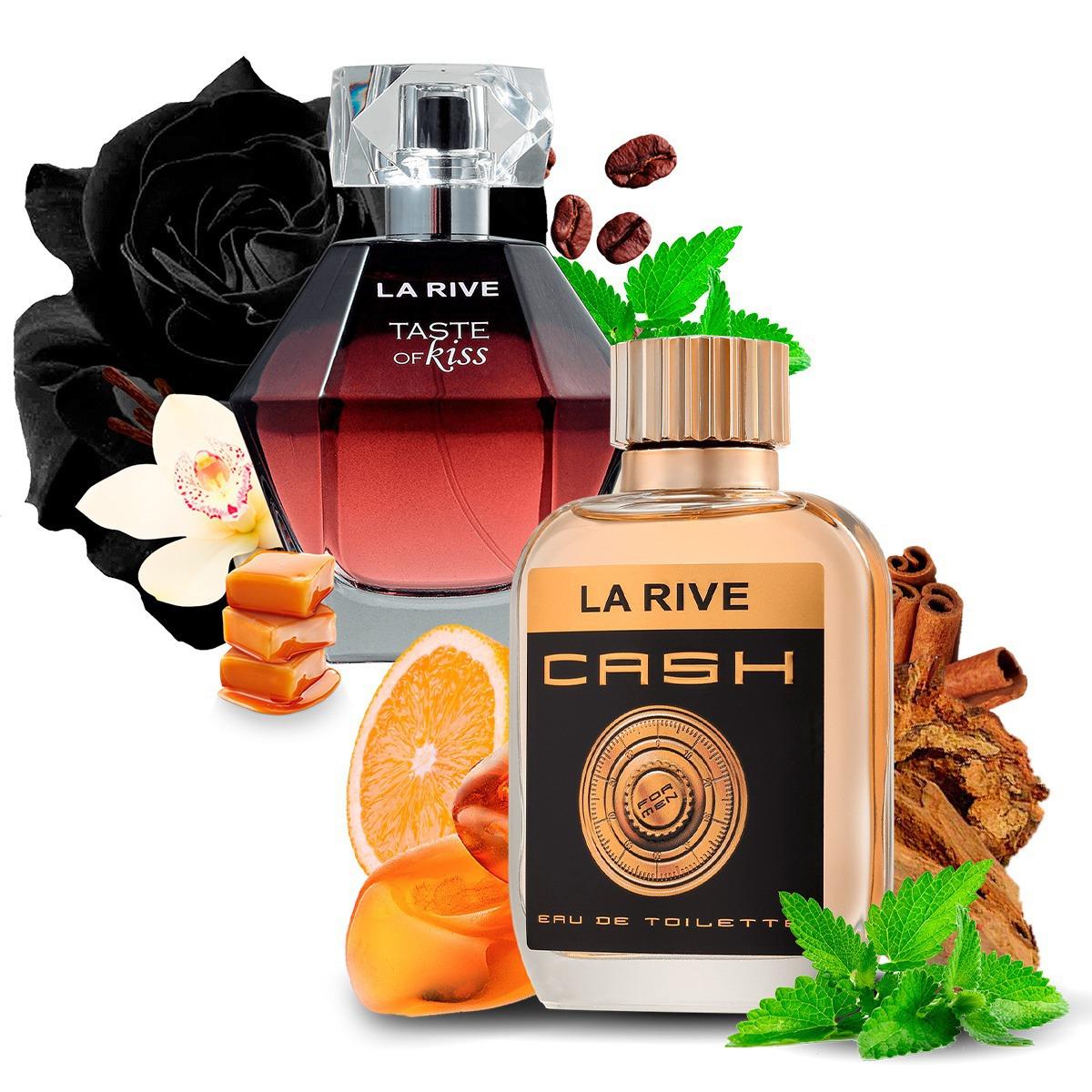 Kit 2 Perfumes Importados Cash Man e Taste of Kiss La Rive