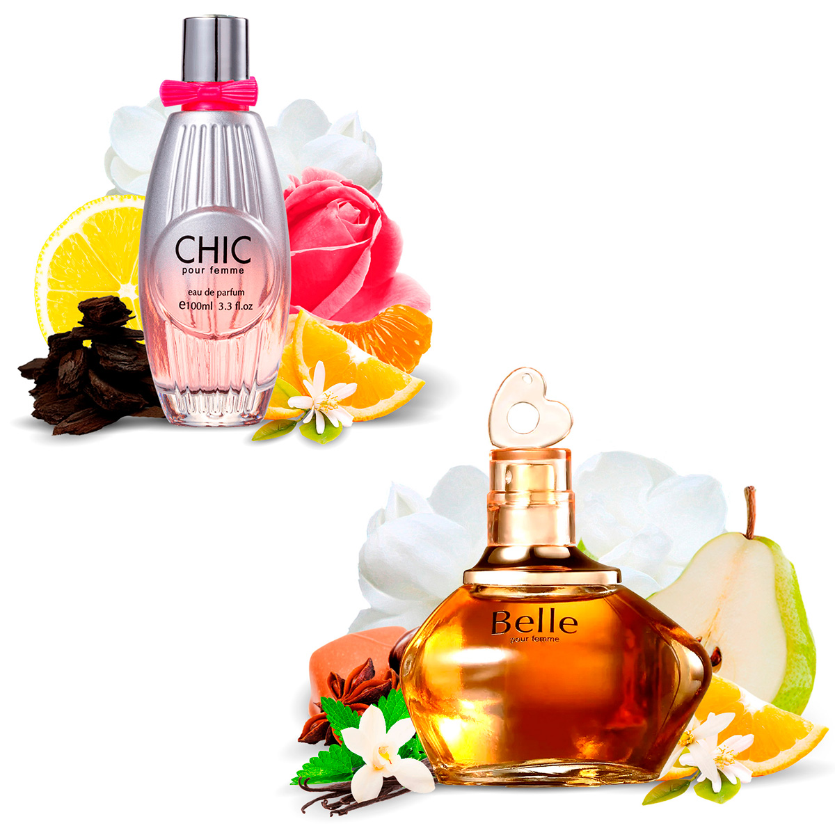 Kit 2 Perfumes Importados Chic e Belle I Scents