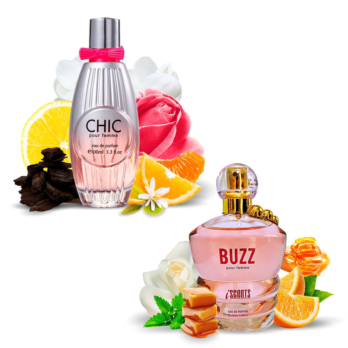 Kit 2 Perfumes Importados Chic e Buzz I Scents