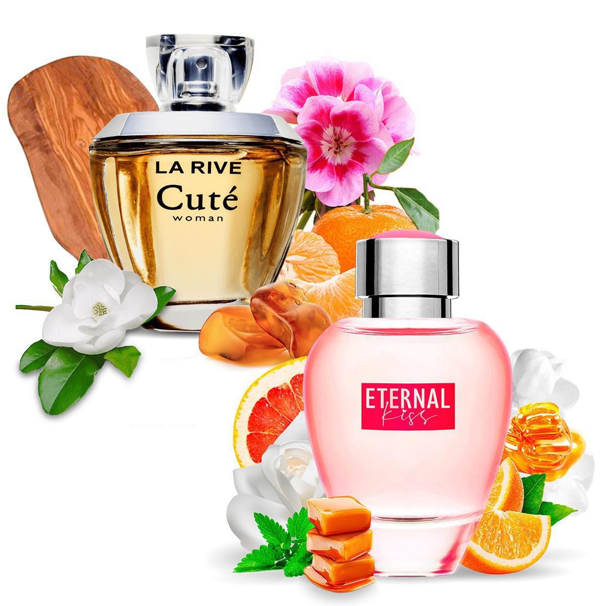 Kit 2 Perfumes Importados Cuté e Eternal Kiss La Rive