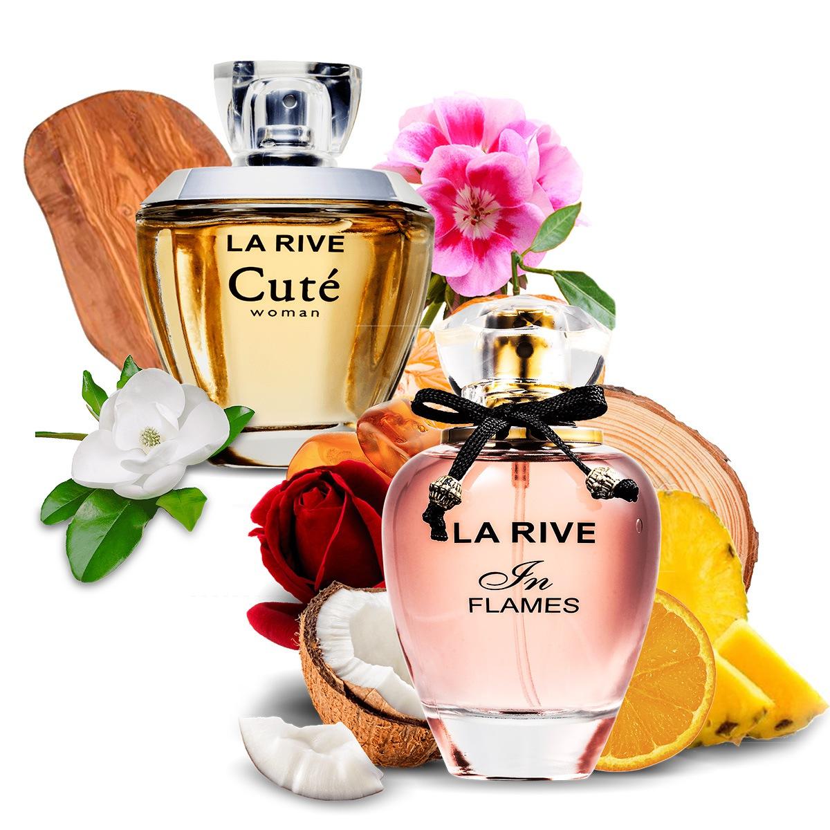 Kit 2 Perfumes Importados Cuté e In Flames La Rive