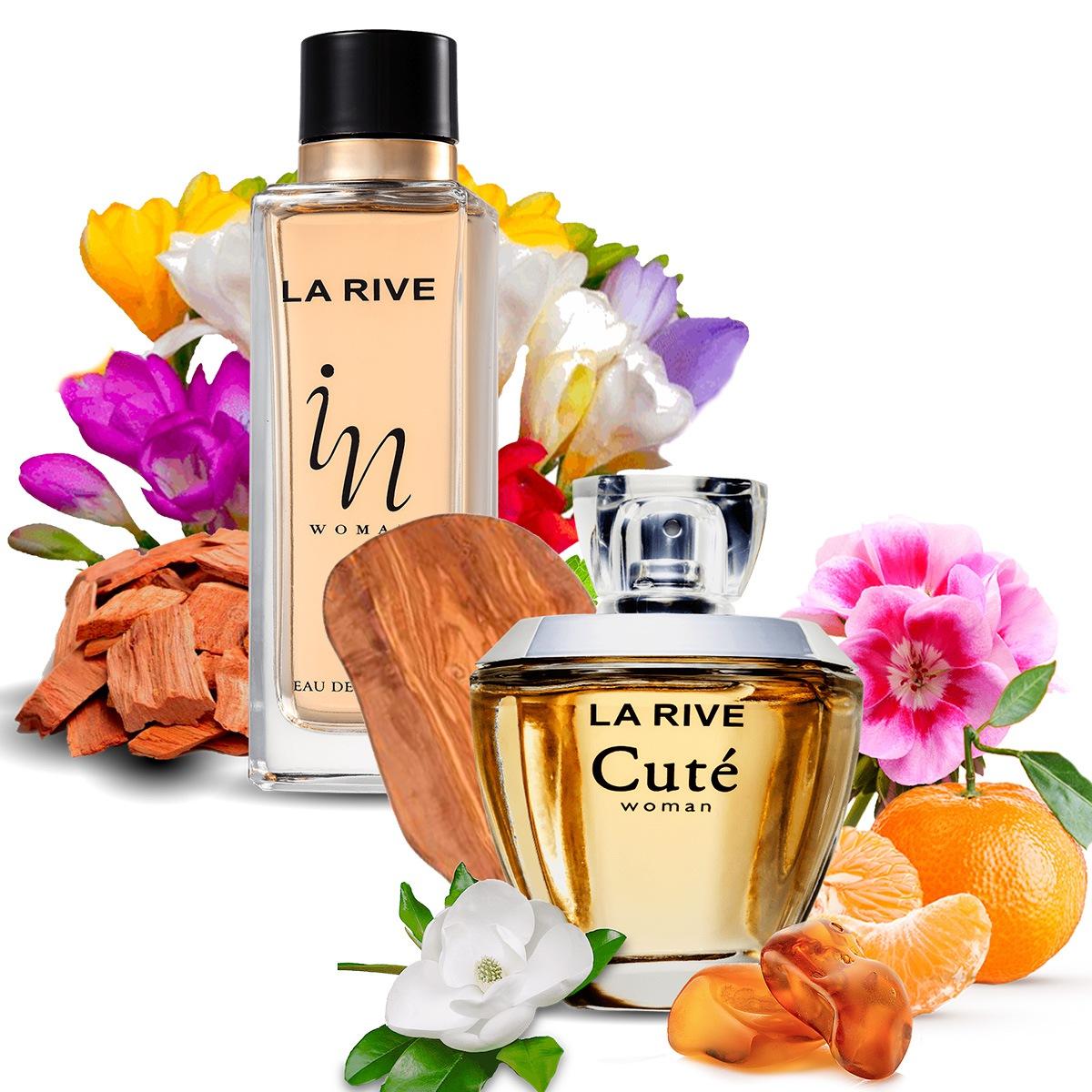 Kit 2 Perfumes Importados Cuté e In Woman La Rive