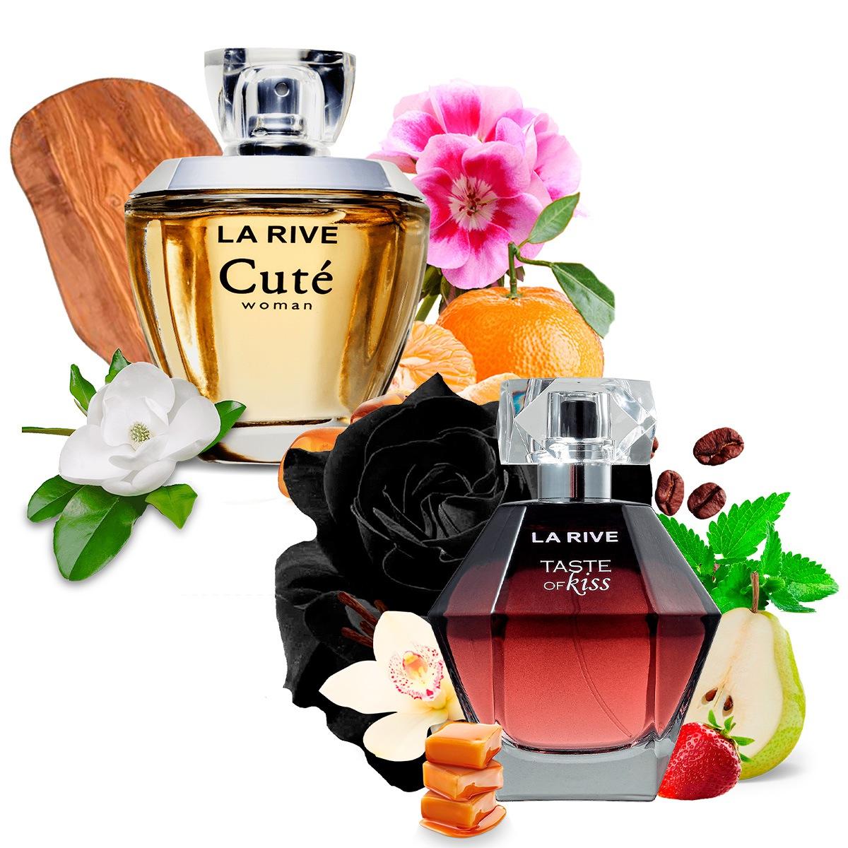 Kit 2 Perfumes Importados Cuté e Taste of Kiss La Rive