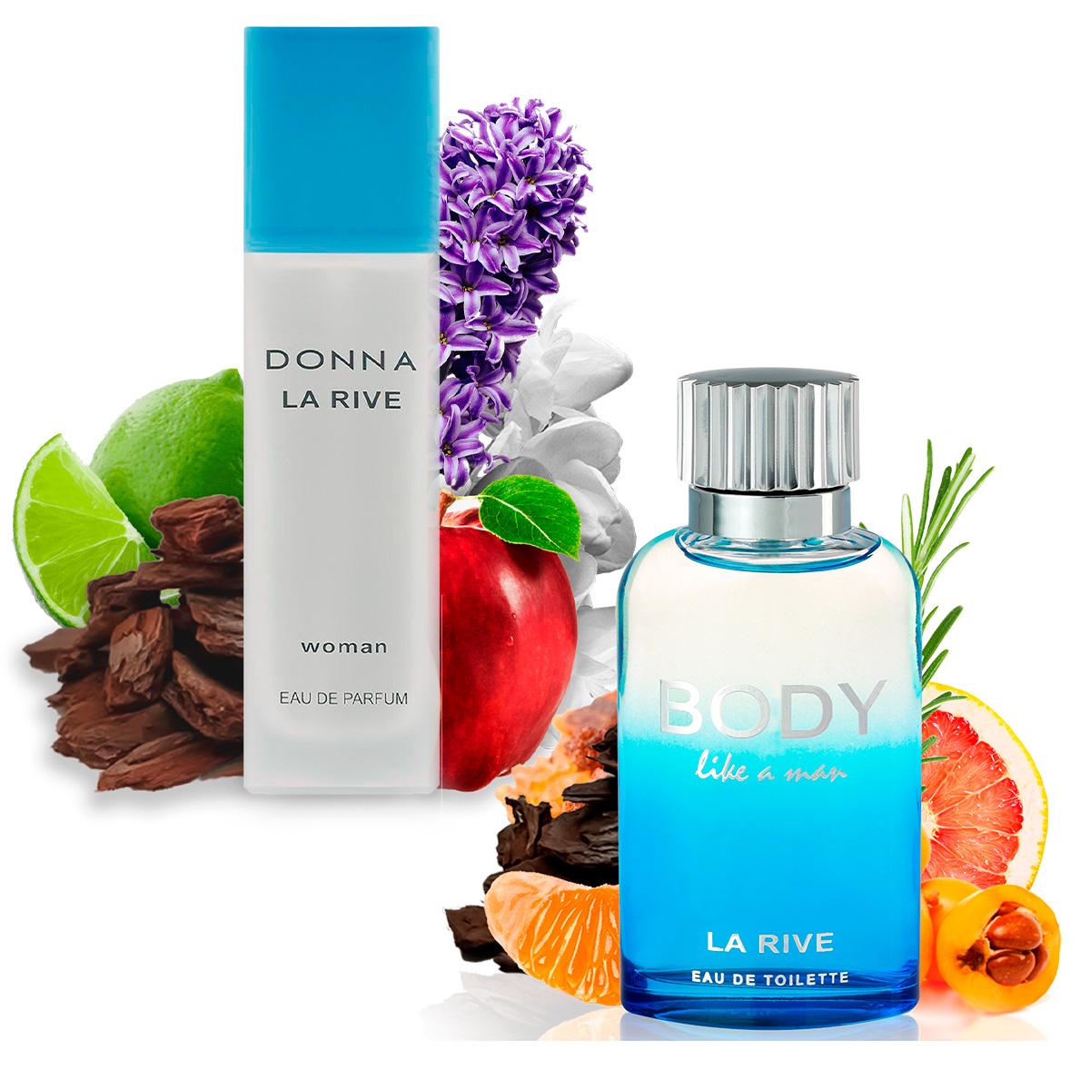 Kit 2 Perfumes Importados Donna e Body Like a Man La Rive