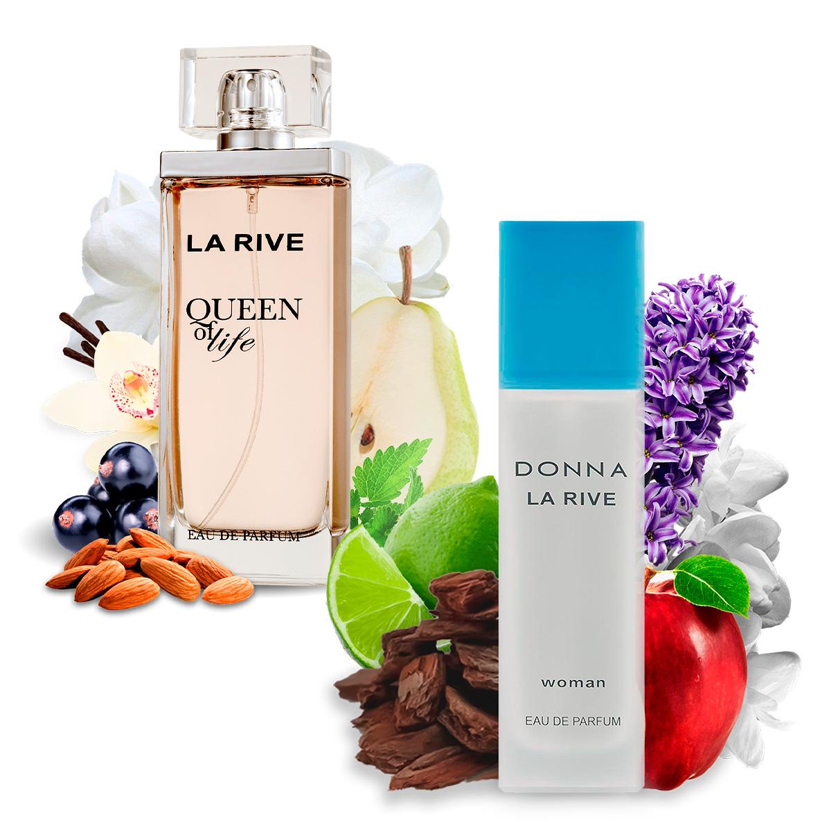 Kit 2 Perfumes Importados Donna e Queen of Life La Rive