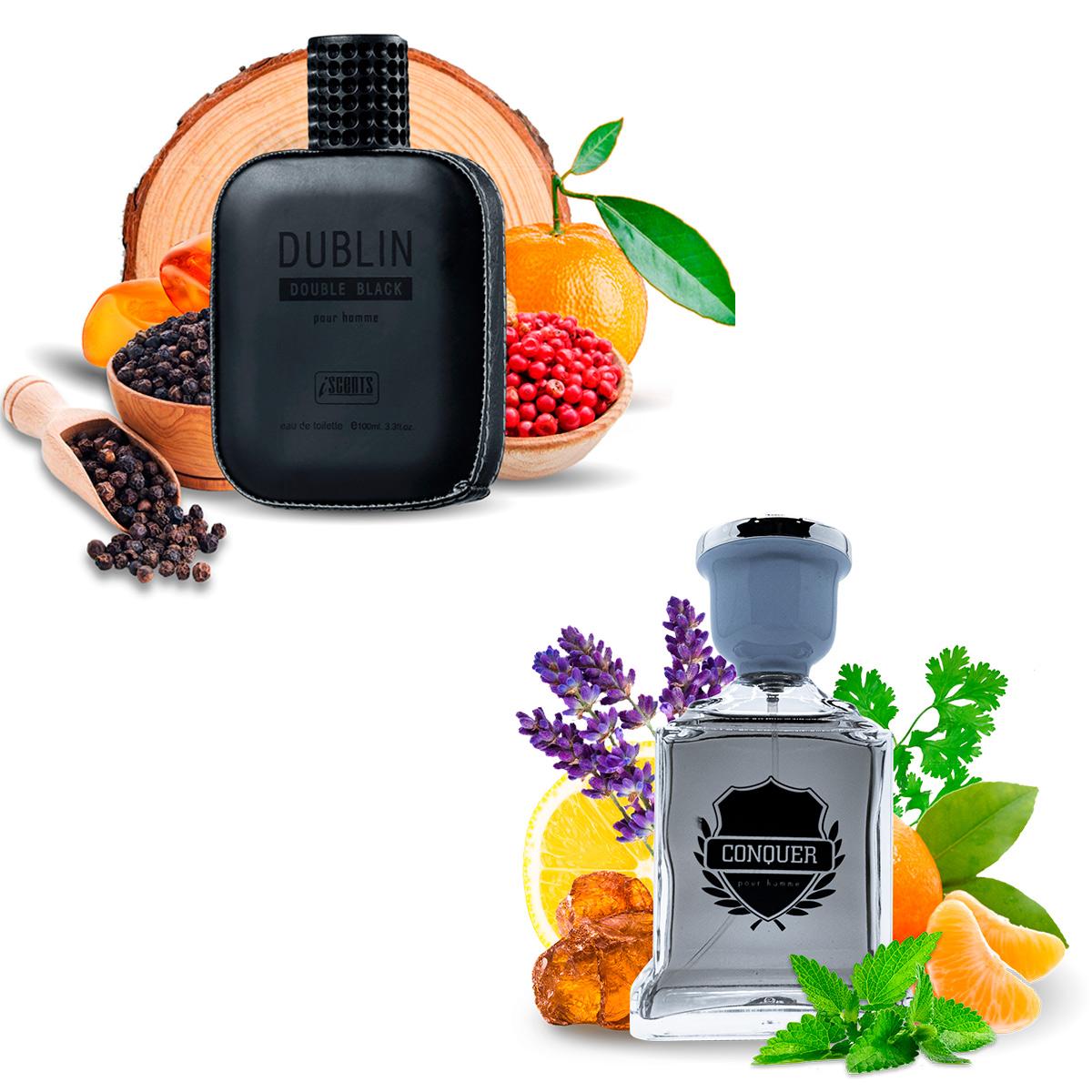 Kit 2 Perfumes Importados Dublin e Conquer I Scents