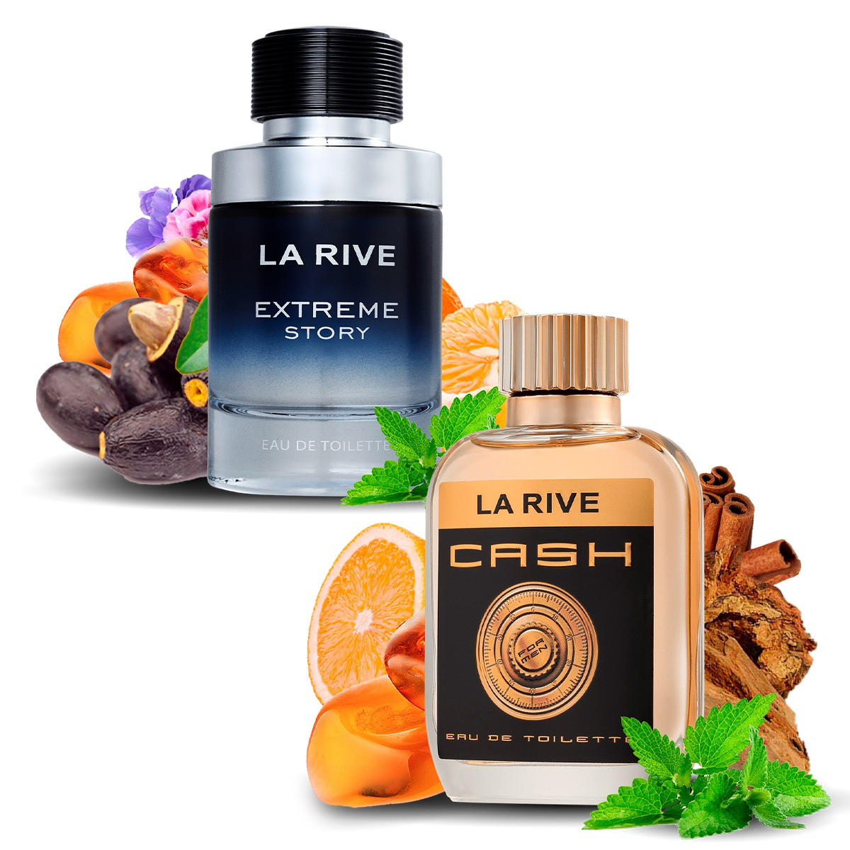 Kit 2 Perfumes Importados Extreme e Cash Man La Rive