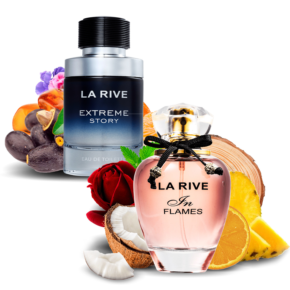 Kit 2 Perfumes Importados Extreme e In Flames La Rive  - Mercari Perfumes