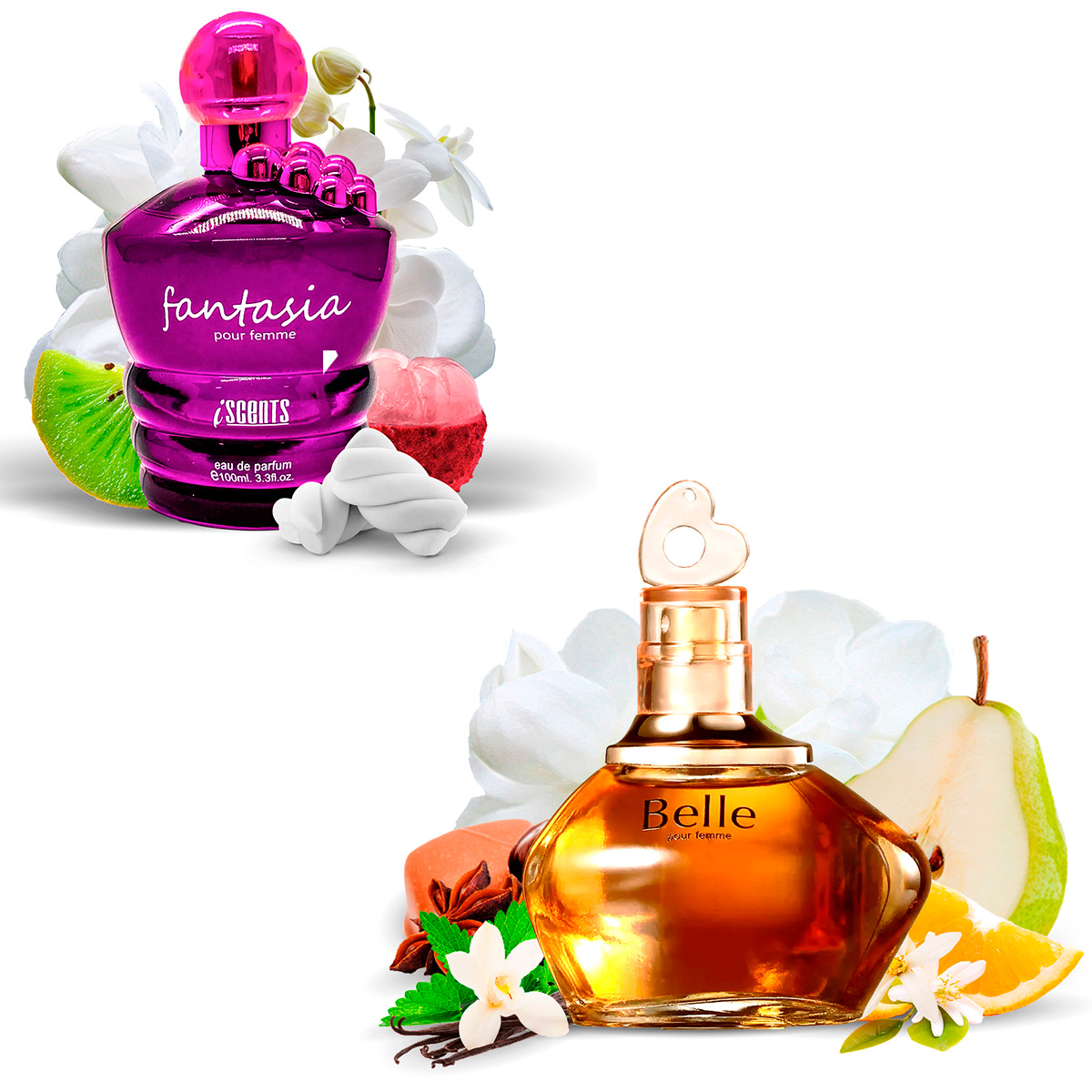 Kit 2 Perfumes Importados Fantasia e Belle I Scents  - Mercari Perfumes