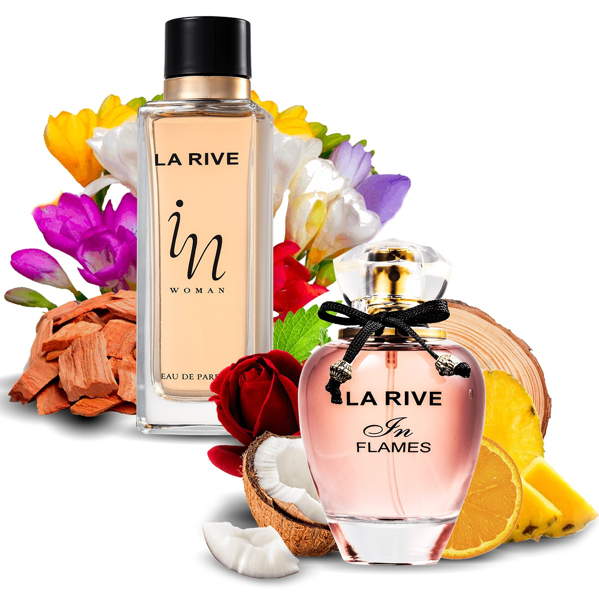 Kit 2 Perfumes Importados In Flames e In Woman La Rive  - Mercari Perfumes