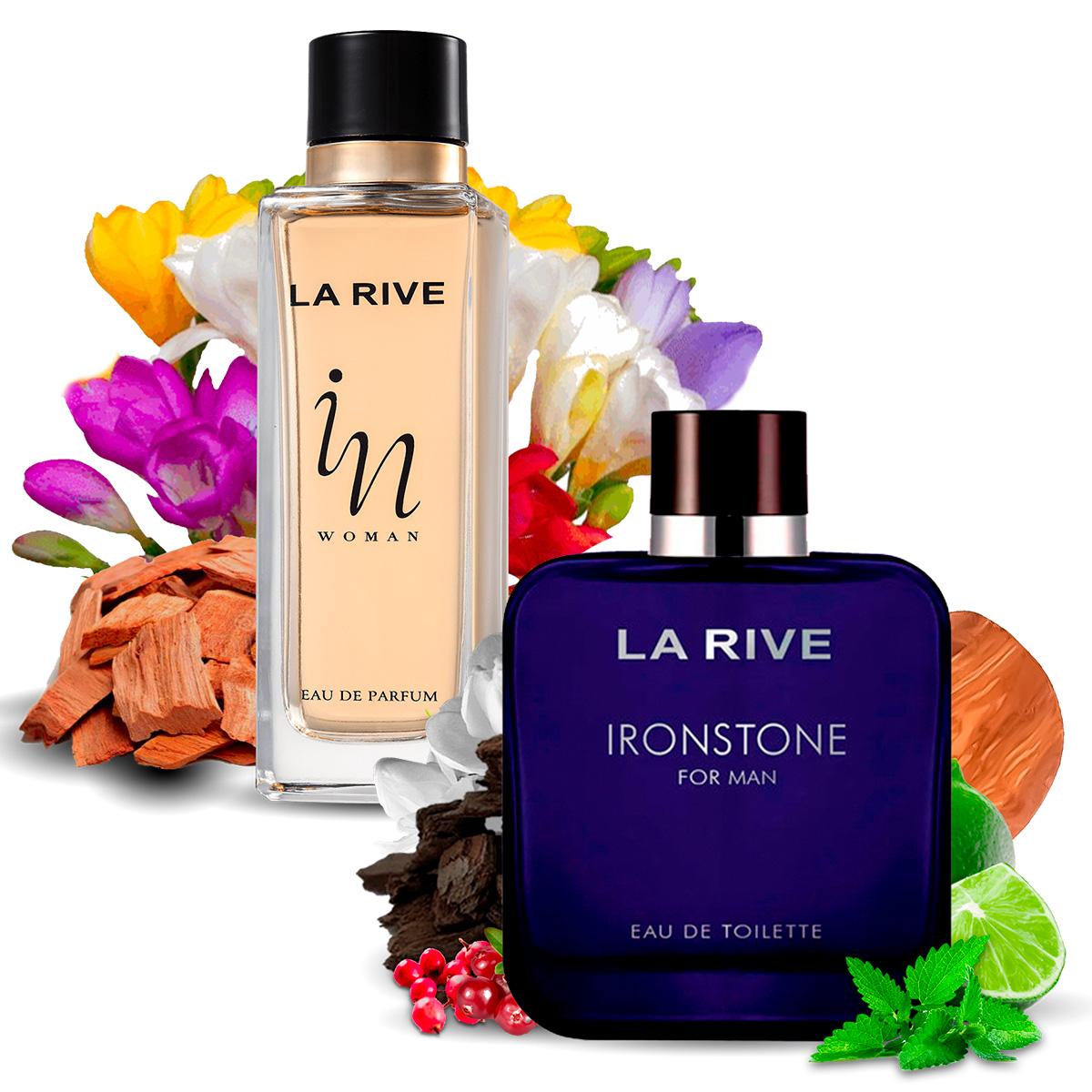 Kit 2 Perfumes Importados In Woman e Ironstone La Rive