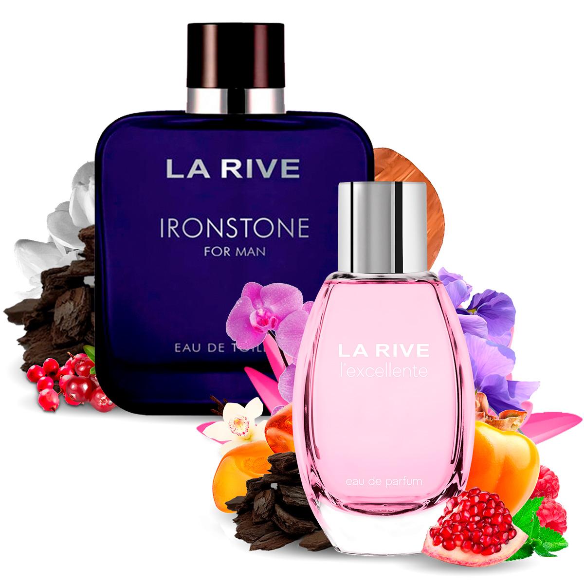 Kit 2 Perfumes Importados Ironstone e Lexcellente La Rive