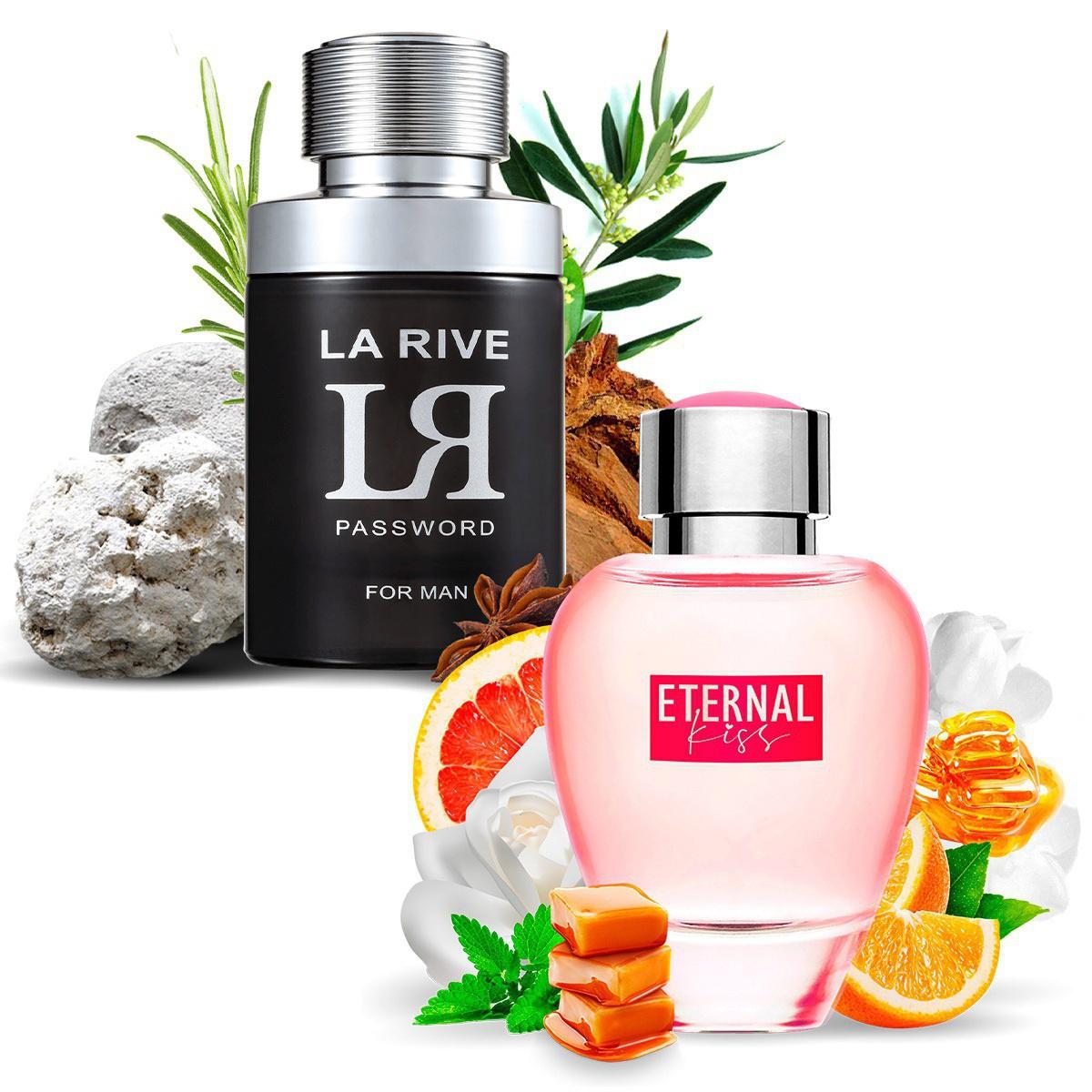 Kit 2 Perfumes Importados LR Password e Eternal Kiss La Rive