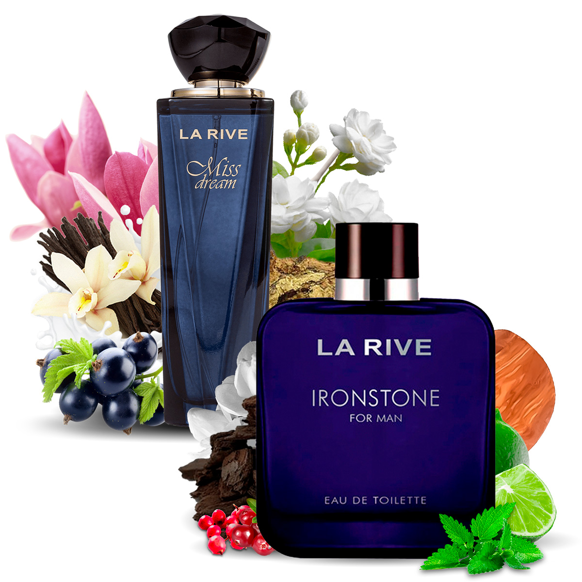 Kit 2 Perfumes Importados Miss Dream e Ironstone La Rive