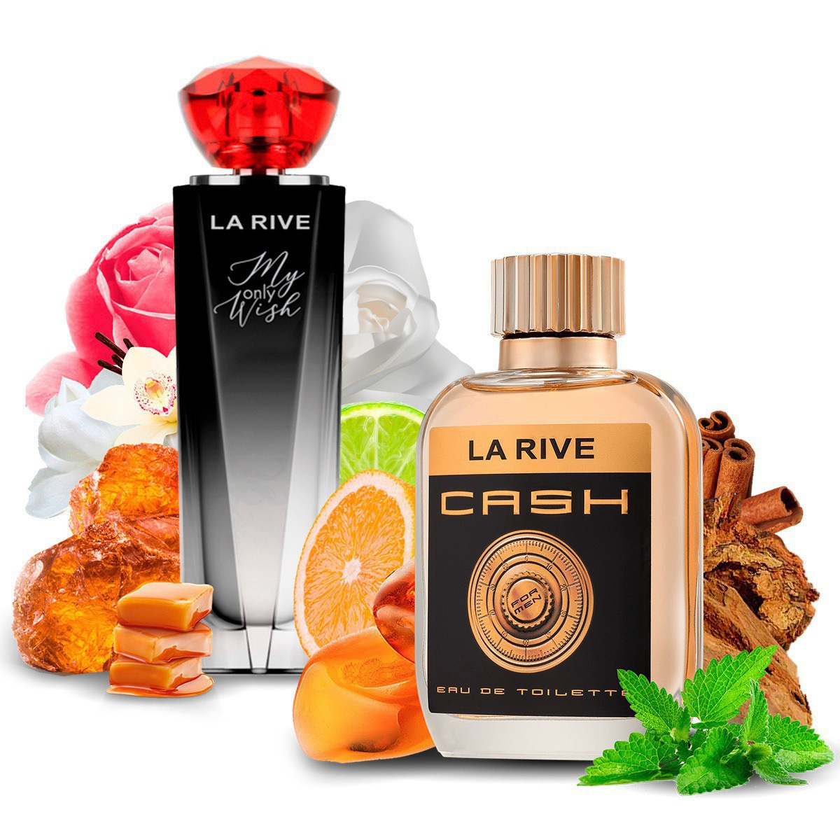 Kit 2 Perfumes Importados My Only Wish e Cash Man La Rive