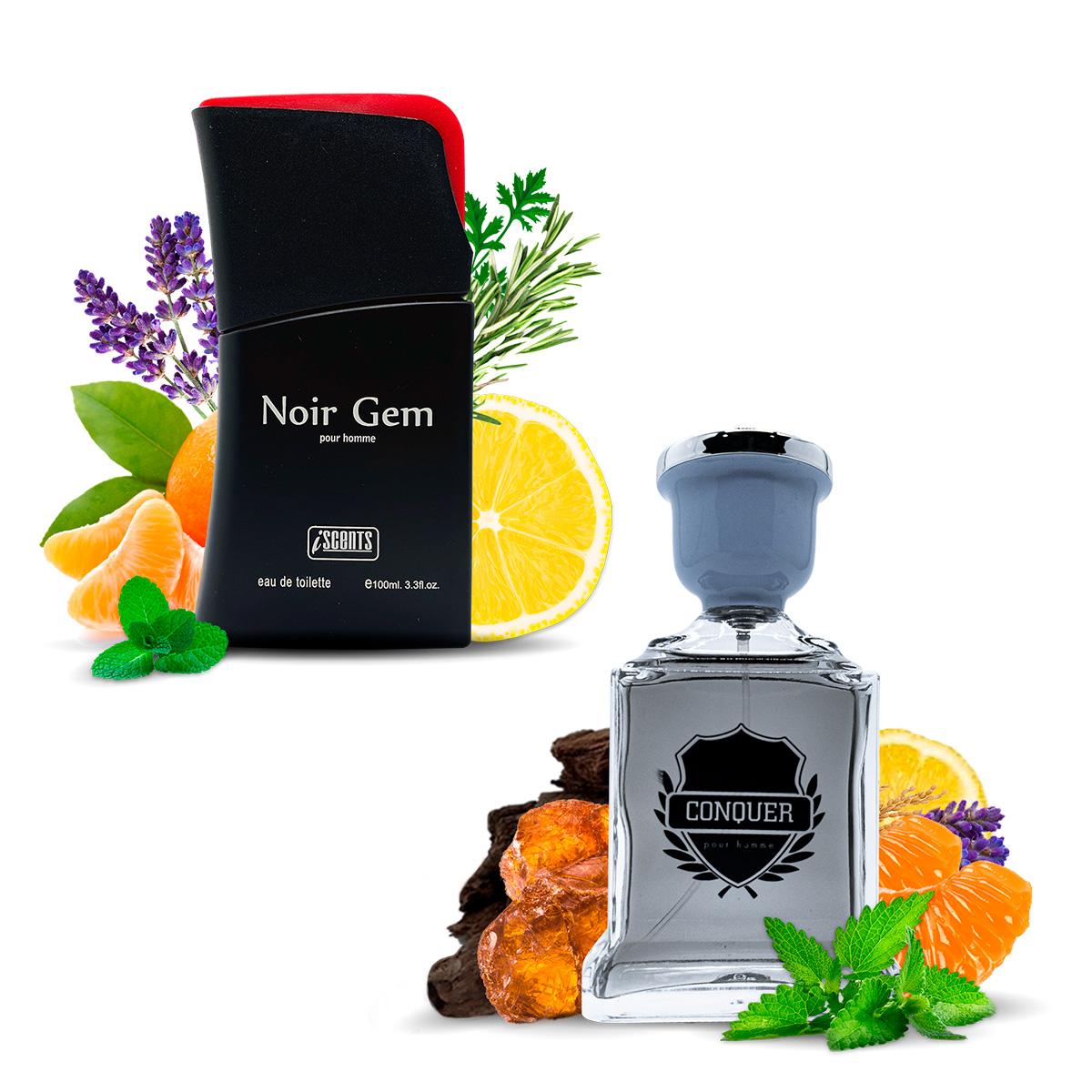 Kit 2 Perfumes Importados Noir Gem e Conquer I Scents