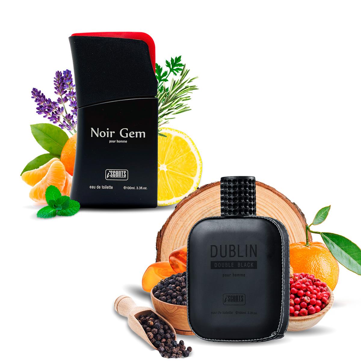 Kit 2 Perfumes Importados Noir Gem e Dublin I Scents