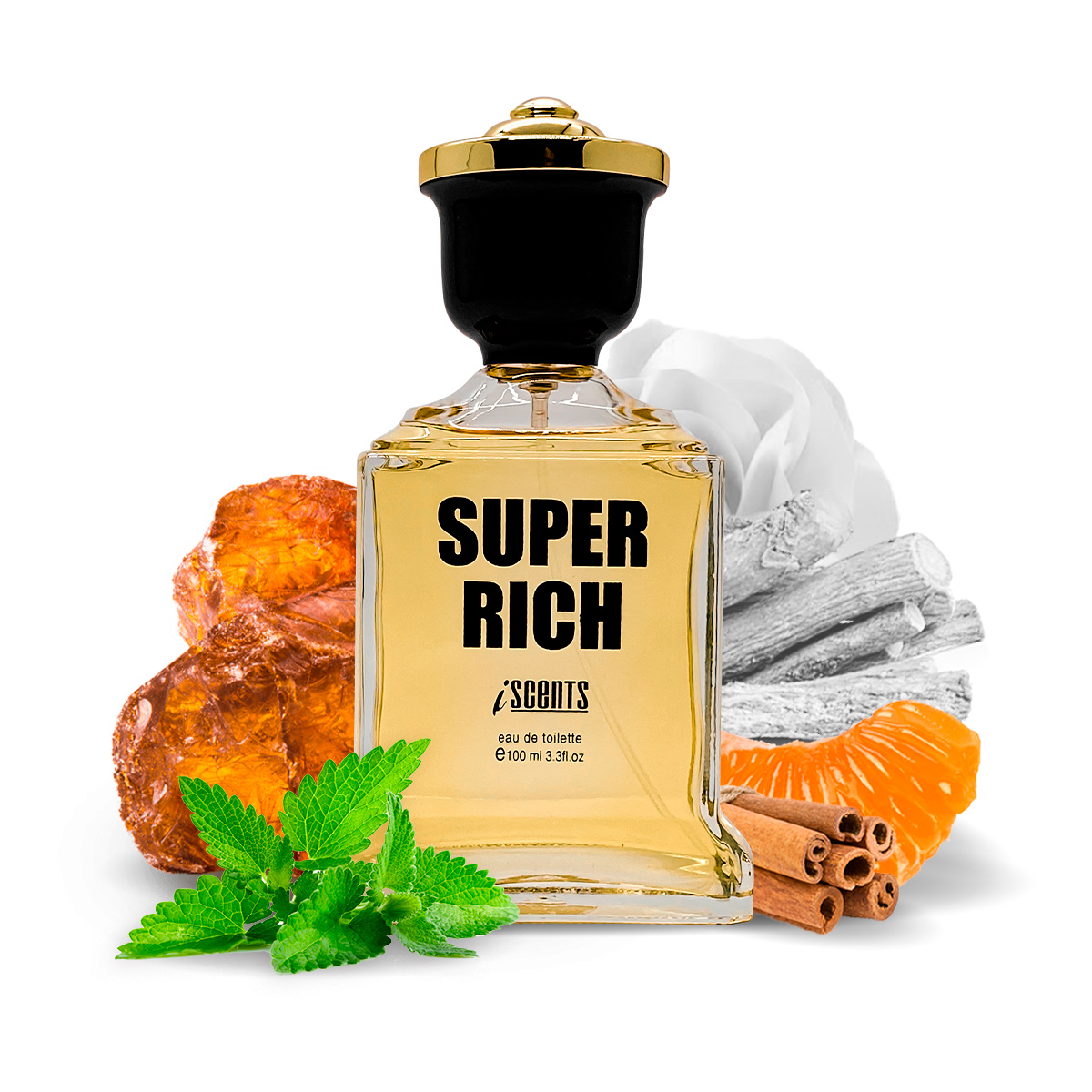 Kit 2 Perfumes Importados Noir Gem e Super Rich I Scents