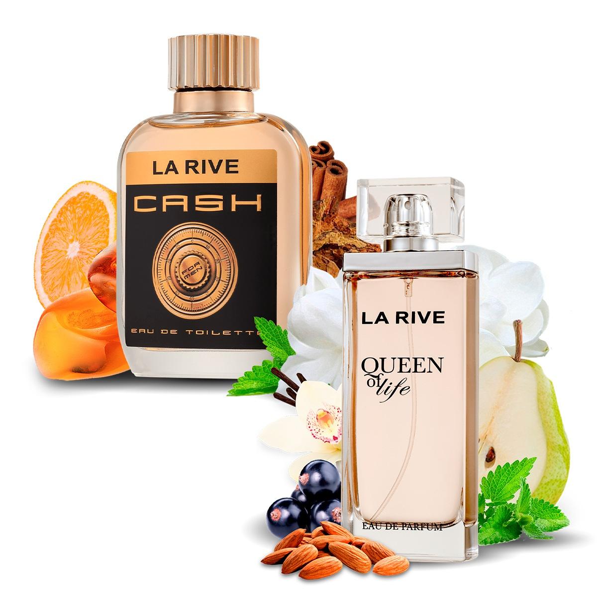 Kit 2 Perfumes Importados Queen of Life e Cash Man La Rive