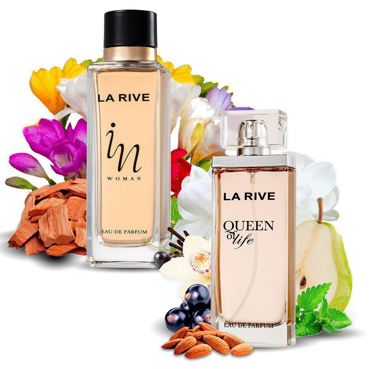 Kit 2 Perfumes Importados Queen of Life e In Woman La Rive