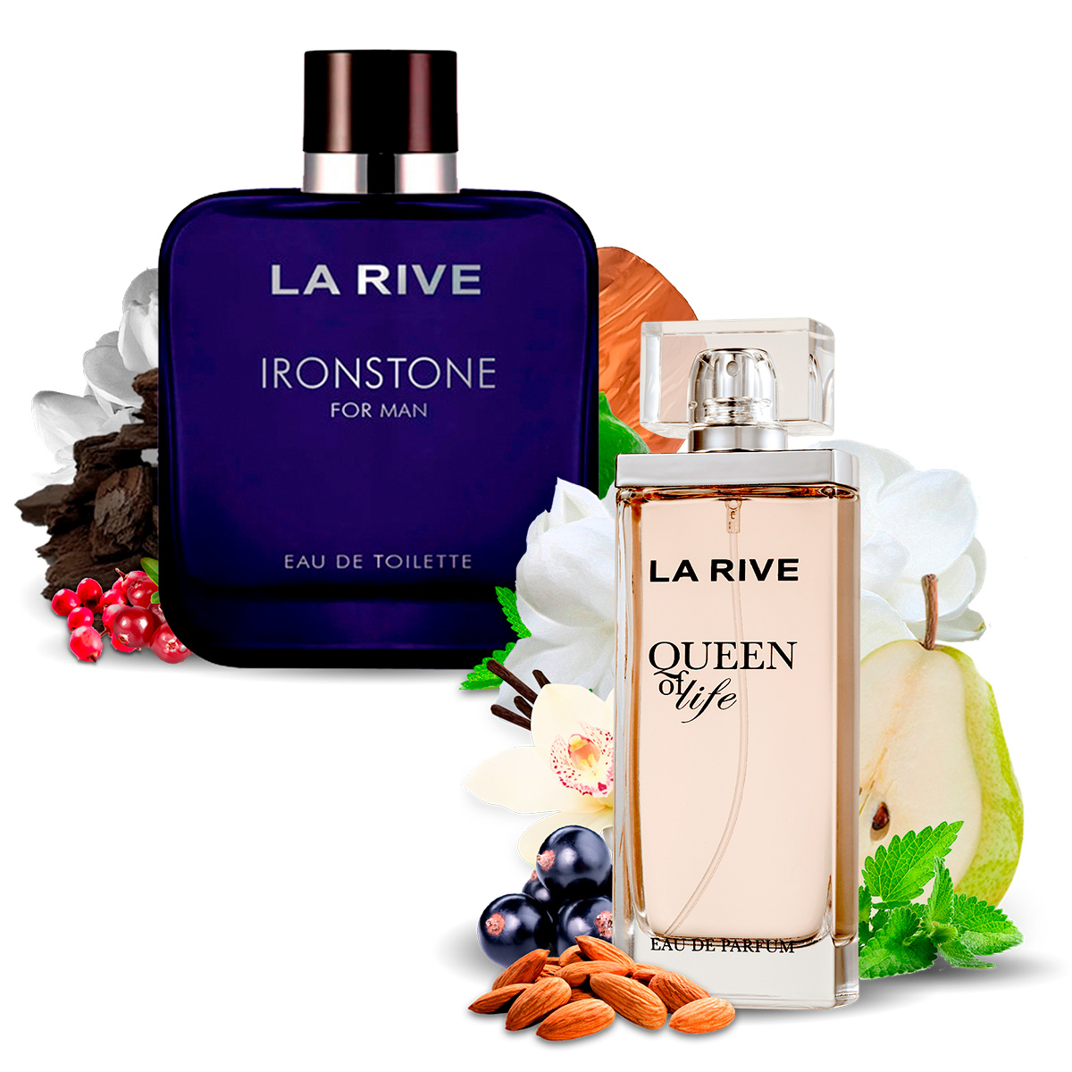 Kit 2 Perfumes Importados Queen of Life e Ironstone La Rive