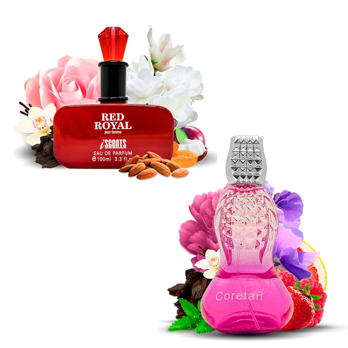 Kit 2 Perfumes Importados Red Royal e Coretan I Scents