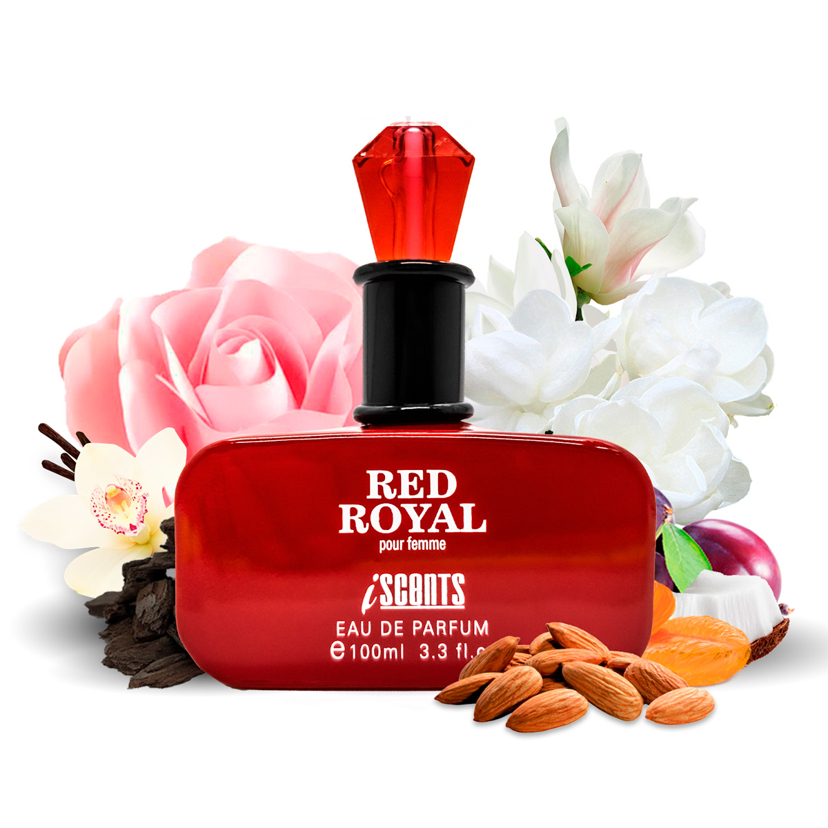 Kit 2 Perfumes Importados Red Royal e Noir Gem I Scents