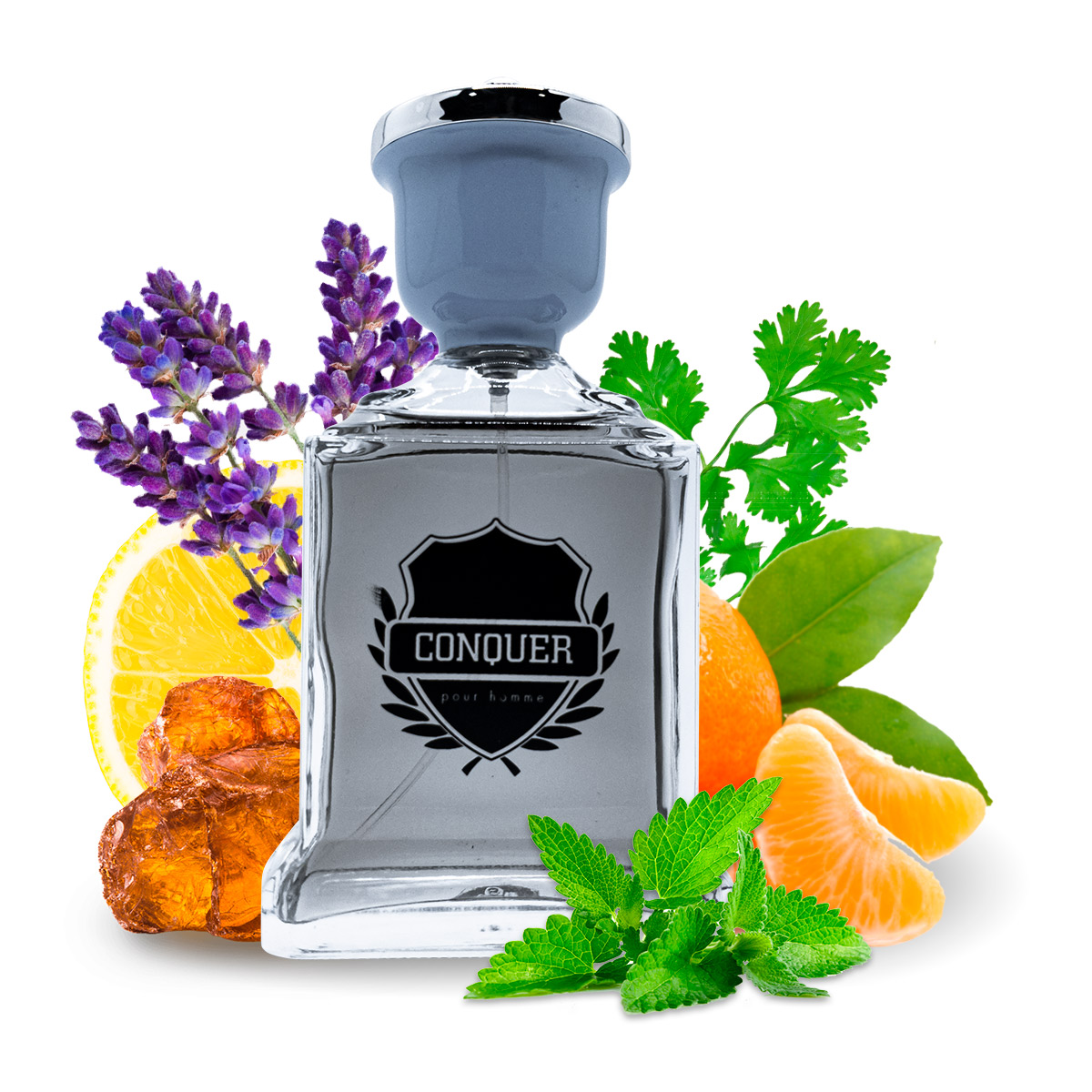 Kit 2 Perfumes Importados Silver Spirit e Conquer I Scents