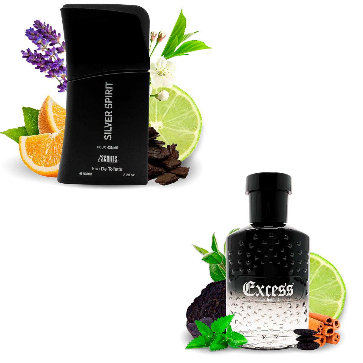 Kit 2 Perfumes Importados Silver Spirit e Excess I Scents