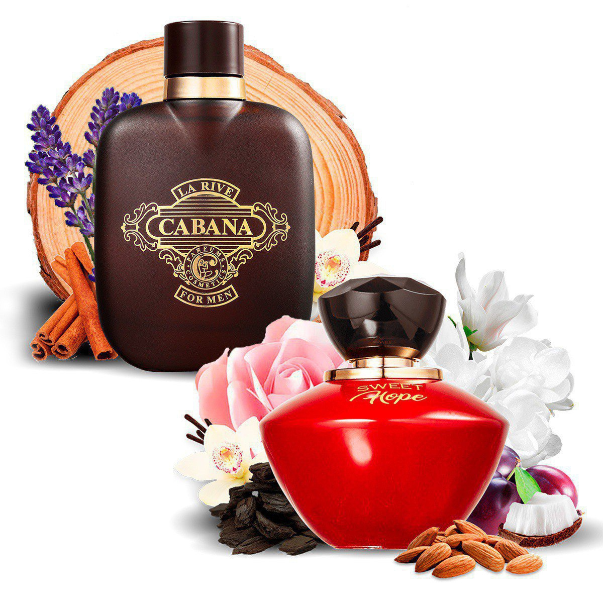 Kit 2 Perfumes Importados Sweet Hope e Cabana La Rive  - Mercari Perfumes
