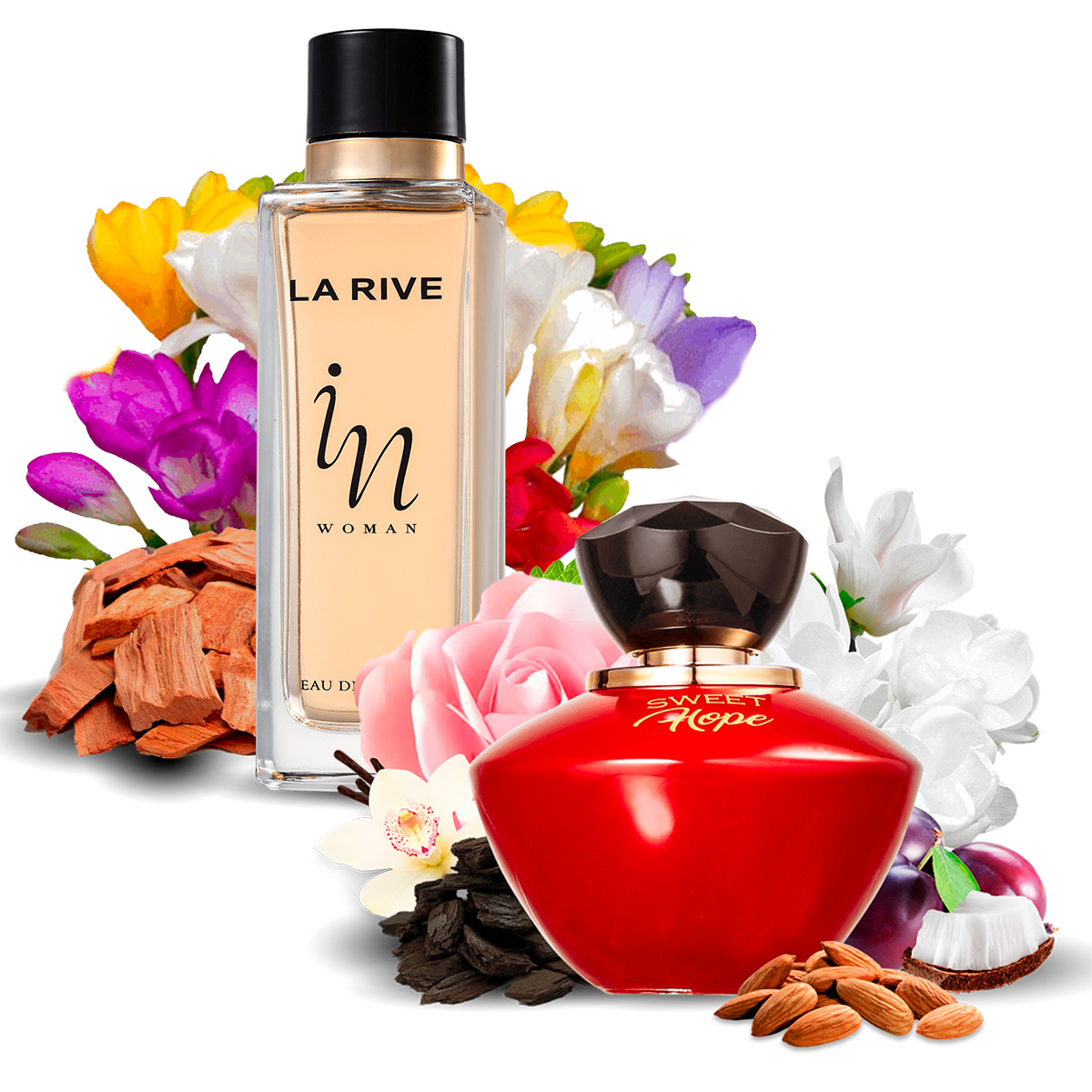 Kit 2 Perfumes Importados Sweet Hope e In Woman La Rive