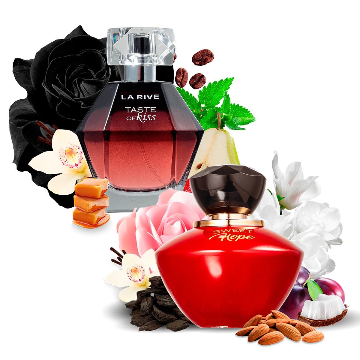 Kit 2 Perfumes Importados Sweet Hope e Taste of Kiss La Rive