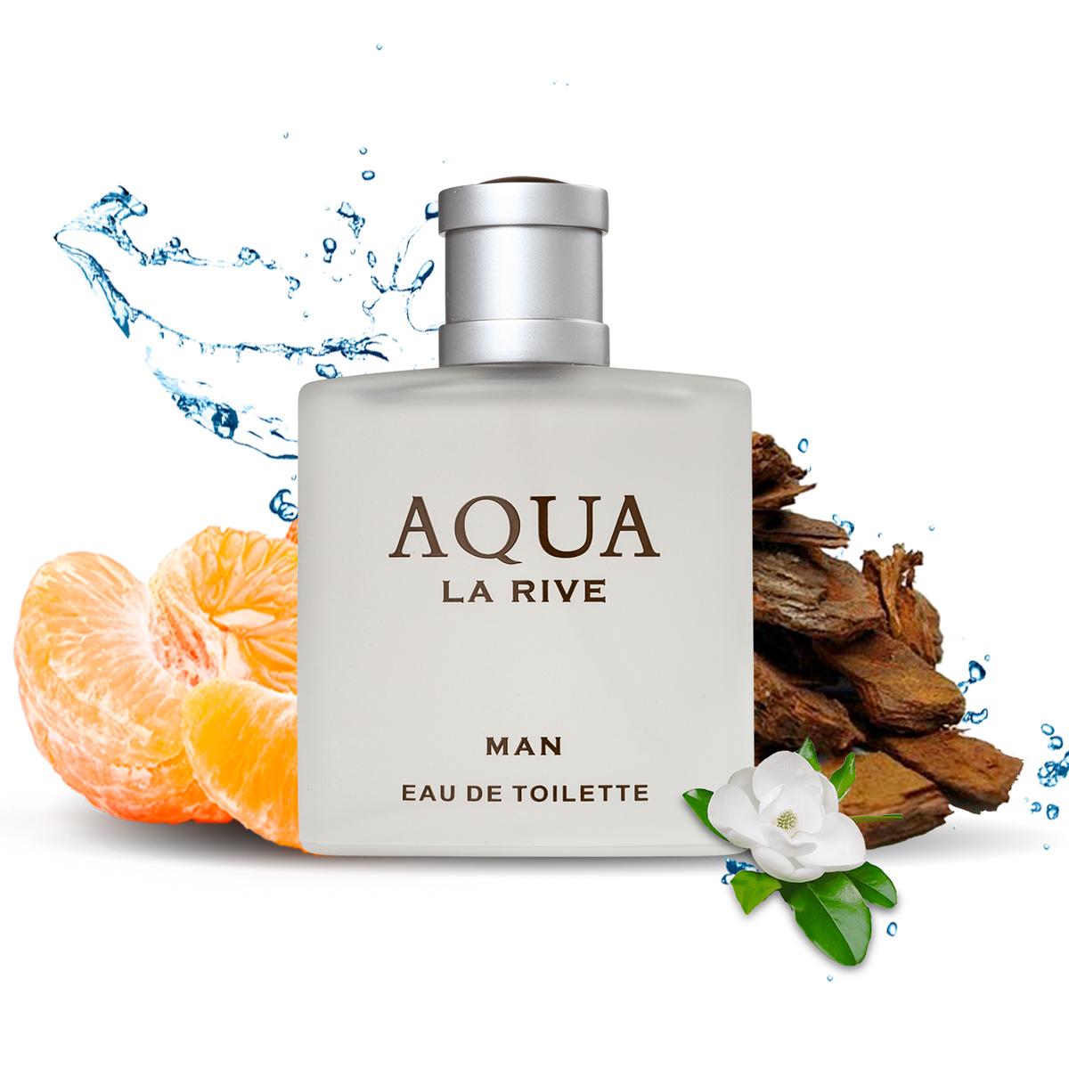 Kit 2 Perfumes La Rive Aqua Man Masculino 100ml Edt