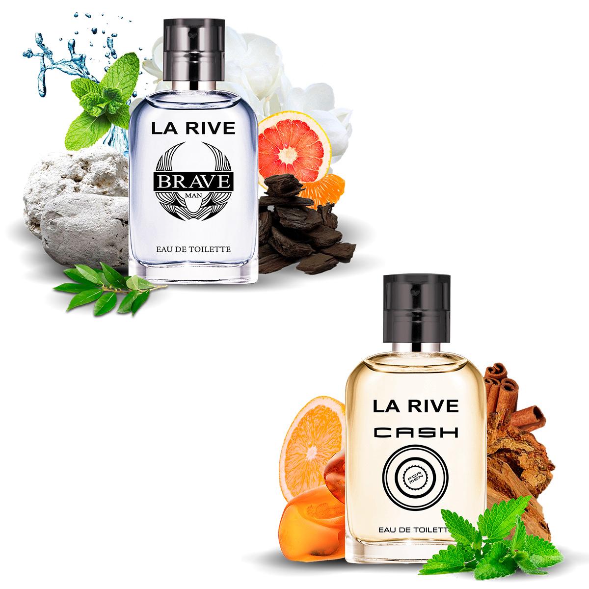 Kit 2 Perfumes La Rive Brave e Cash Men 30ml Masculino Edt