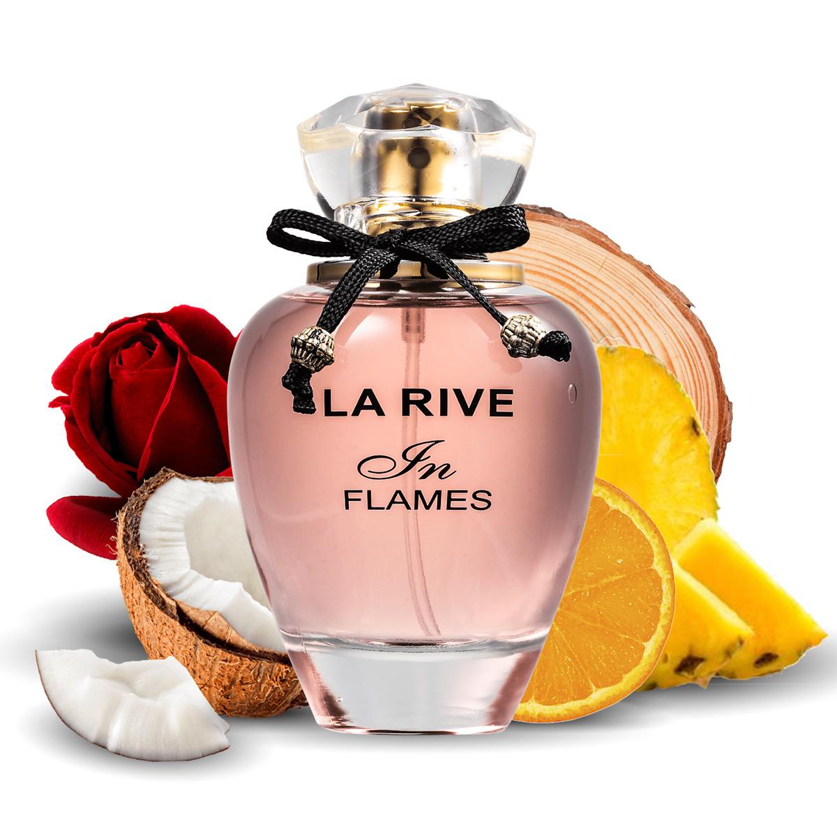 Kit 2  Perfumes La Rive Cash Woman 90Ml + In Flames Edp 90ml