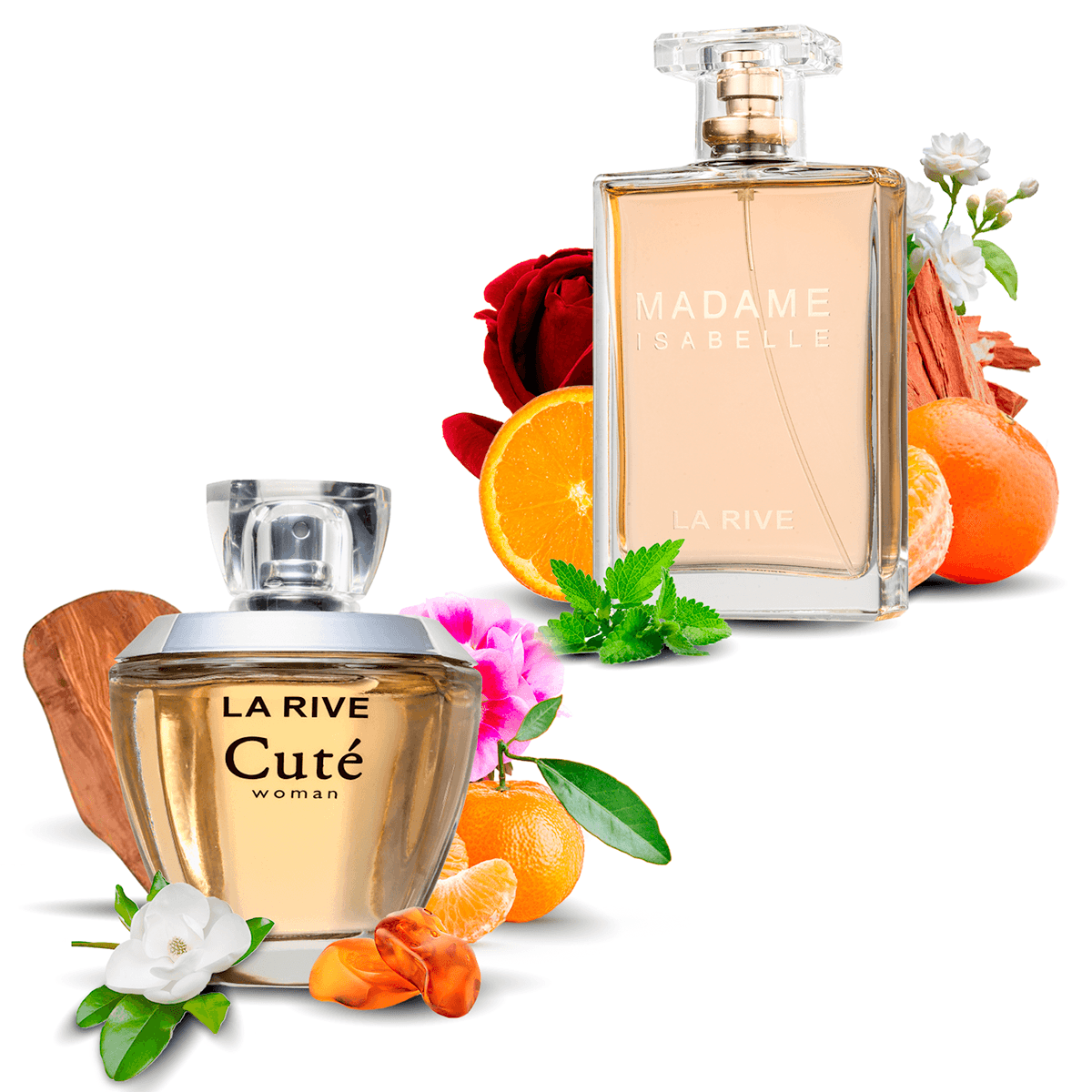 Kit 2  Perfumes La Rive Cuté 100ml + Madame Isabelle 90ml