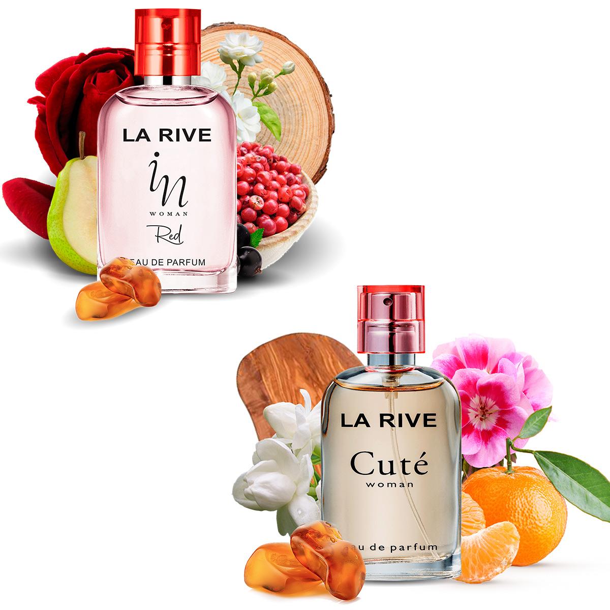 Kit 2 Perfumes La Rive Cute e In Woman Red 30ml Feminino Edp  - Mercari Perfumes