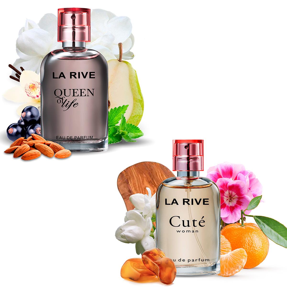 Kit 2 Perfumes La Rive Cute e Queen Of Life 30ml Feminino