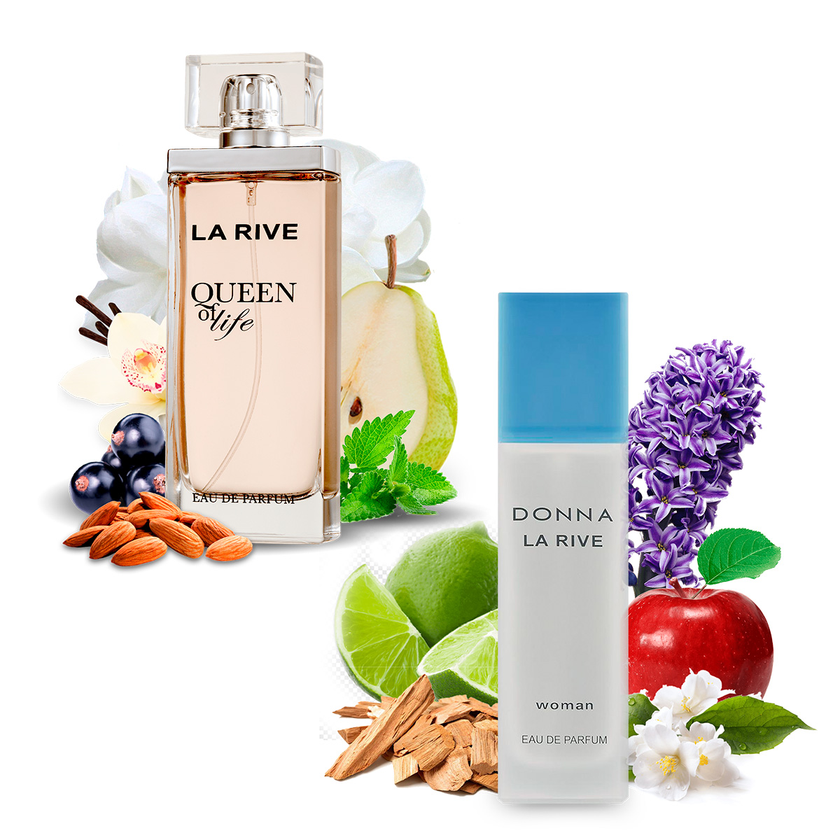 Kit 2  Perfumes La Rive Donna 90ml + Queen of Life 75ml  - Mercari Perfumes