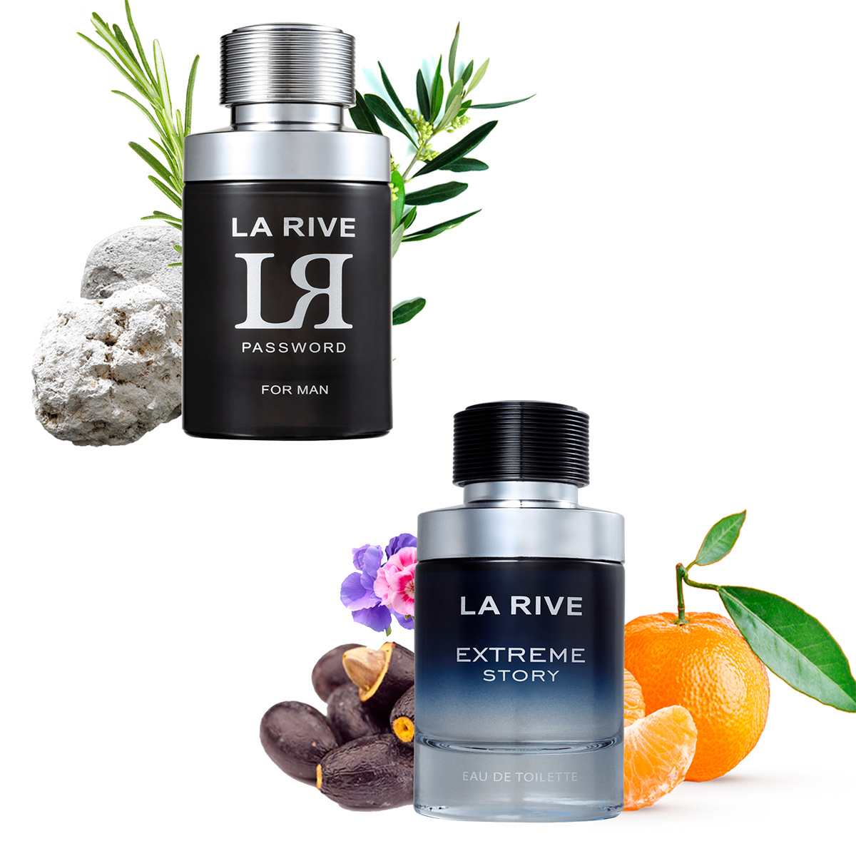 Kit 2 Perfumes La Rive Extreme Story 75ml + LR Password 75ml