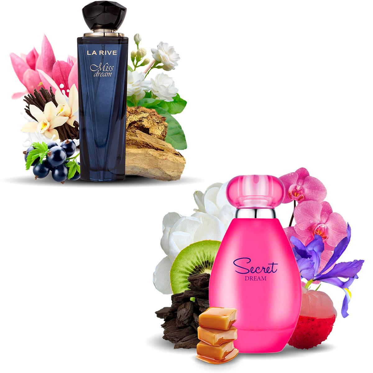 Kit 2 Perfumes La Rive Miss Dream 100ml + Secret Dream 90ml